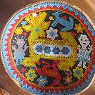 Plate/Huichol Art - Plato/Artesanía Huichol by PtoVallartaMex