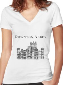 The big house Women's Fitted V-Neck T-Shirt