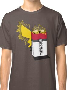 Pokecell Pikachu Battery Classic T-Shirt