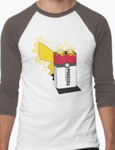 Pokecell Pikachu Battery Men's Baseball ¾ T-Shirt