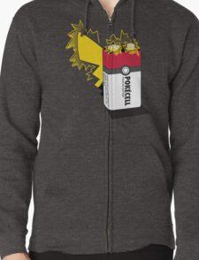 Pokecell Pikachu Battery Zipped Hoodie