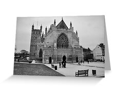 Exeter Cathedral Green In Winter Greeting Card