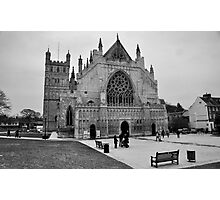 Exeter Cathedral Green In Winter Photographic Print