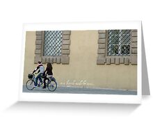 On a bicycle made for two Greeting Card