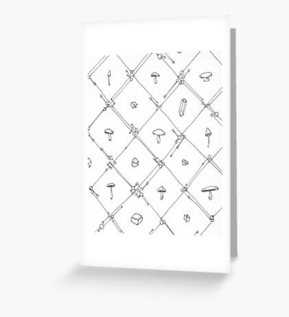 Gem and Mushroom Geometry Greeting Card