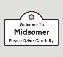 Welcome To Midsomer County Road Sign by Buleste