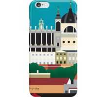 Madrid, Spain - Skyline Illustration by Loose Petals iPhone Case/Skin