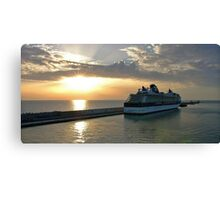 Civitavecchia Harbour Canvas Print