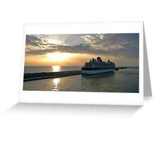 Civitavecchia Harbour Greeting Card