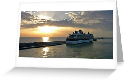 Civitavecchia Harbour by Tom Gomez