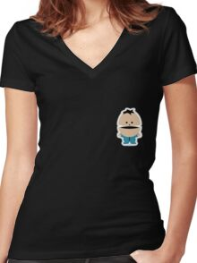 South Park Kid Ike Broflovski Women's Fitted V-Neck T-Shirt