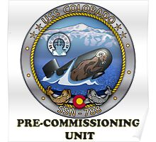 SSN-788 USS Colorado Pre-commissioning Unit Crest Poster