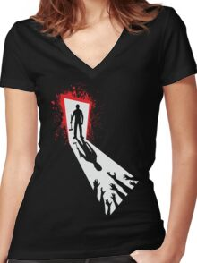 Zombie Killer Women's Fitted V-Neck T-Shirt