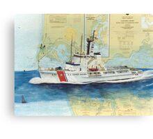 USCGC Alert Nautical Chart Map Cathy Peek  Canvas Print