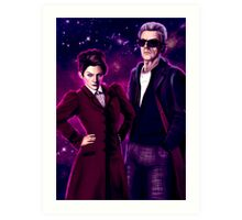 Missy and The Doctor  Art Print