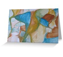 Raw Abstract Greeting Card