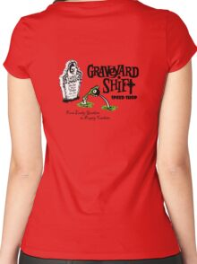 Graveyard Shift 50s Style Design Women's Fitted Scoop T-Shirt