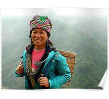 Local Vietnamese girl, Sapa region Poster