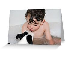 Puppy kisses... Greeting Card