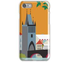 Prague, Czech Republic - Skyline Illustration by Loose Petals iPhone Case/Skin