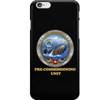 SSN-788 Pre-Commissioning Unit Crest for Dark Colors iPhone Case/Skin
