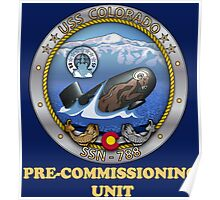 SSN-788 Pre-Commissioning Unit Crest for Dark Colors Poster