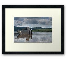 Wingham Brush flood aftermath Framed Print