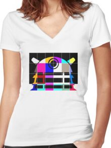 Dalek Icotack Women's Fitted V-Neck T-Shirt