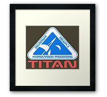 Titan Moon Framed Print