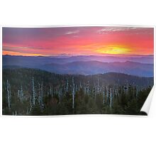 Dawn's End - Clingman's Dome, Great Smoky Mountains National Park Poster