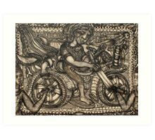 motorcycle Art Print