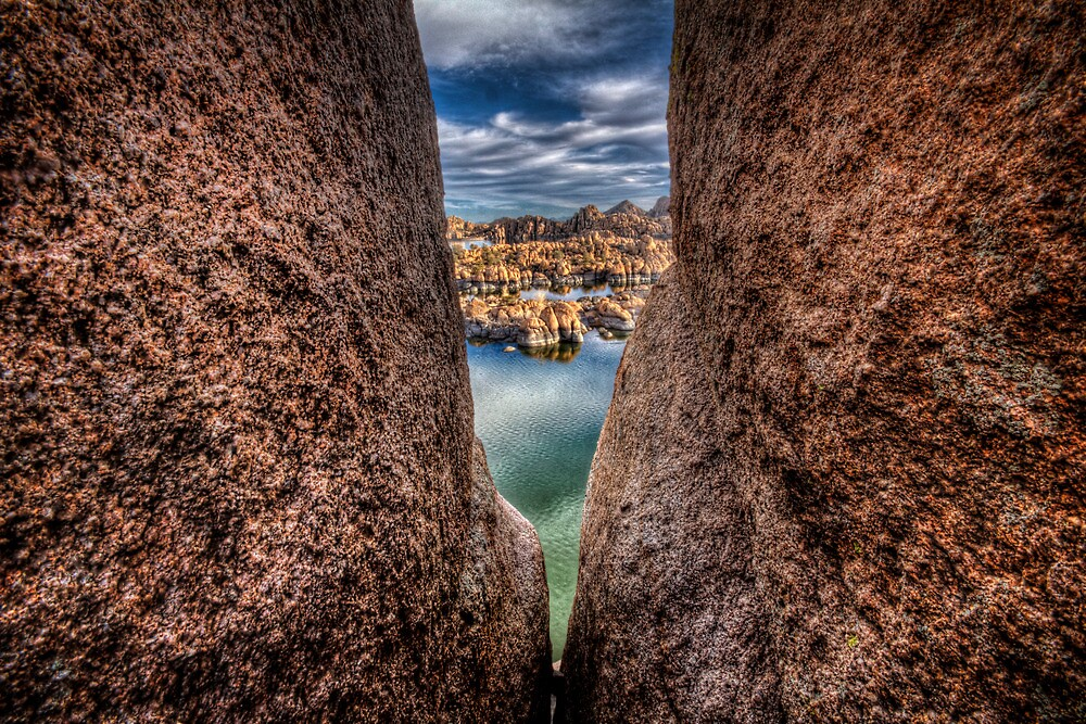 Rock City Peek by Bob Larson
