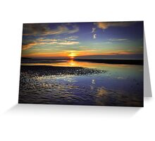 Talacre Sunset Greeting Card