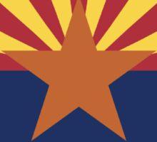 Arizona State Flag - Euro Sticker Sticker