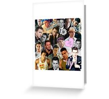 Channing Tatum Collage Greeting Card