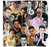 Channing Tatum Collage Poster