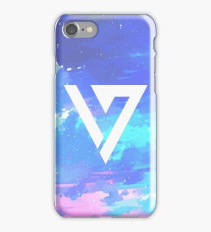 Pretty Pink/Purple/Blue Pastel Sky Seventeen Kpop iPhone and Samsung Case iPhone Case/Skin