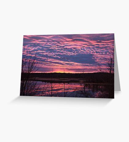 Christmas Eve Sunrise   Jordan Lake, NC Greeting Card