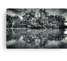 Black and White Charlie Canvas Print