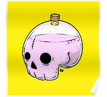 Bottle skull Poster