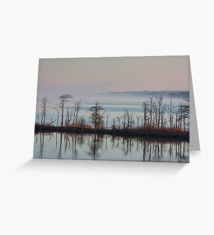 Black Gives Way To Blue, Jordan Lake, NC Greeting Card