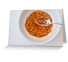 love soup Greeting Card