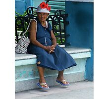 Cuban lady Photographic Print