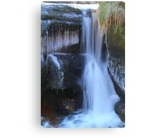 Ice, Rock and Water, River Swale 03-Feb-2012ad. Canvas Print