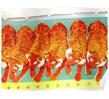 'T' Is For Really Terrific Toy Tigers Poster