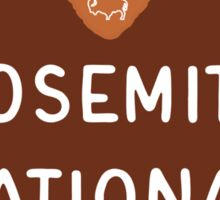 Yosemite National Park Entrance Sign, California, USA Sticker