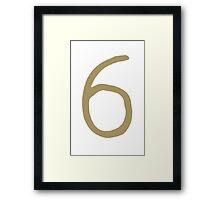 6 Framed Print