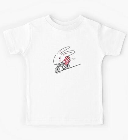 Bunny Riding a Bike Kids Tee