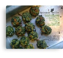Spinach Balls Canvas Print