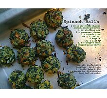Spinach Balls Photographic Print